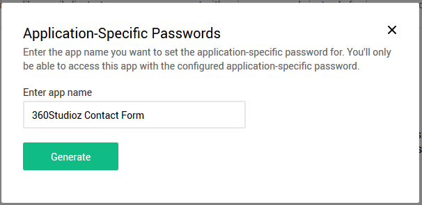 Create Zoho Application Name